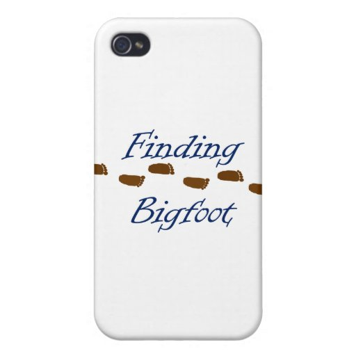 Finding Bigfoot with Footprints iPhone 4 Case