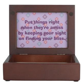 Finding Bliss Poem Keepsake Box
