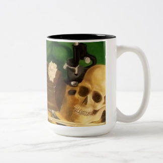 finding clues Two-Tone coffee mug