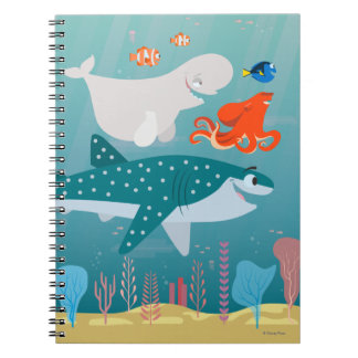 Finding Dory | A Journey Beneath the Sea Spiral Notebook