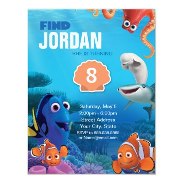 Disney Themed Finding Dory Birthday Card