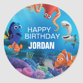 Finding Dory Birthday Classic Round Sticker