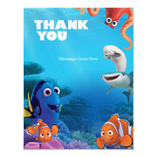Finding Dory Birthday Thank You Card