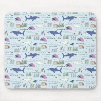 Finding Dory Blue Cartoon Pattern Mouse Pad