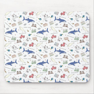 Finding Dory Cartoon White Pattern Mouse Pad