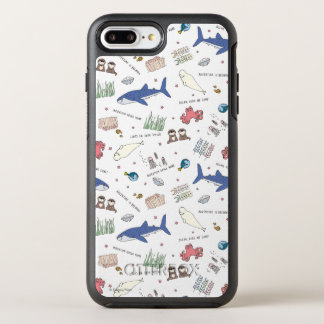 Finding Dory Cartoon White Pattern OtterBox Symmetry iPhone 7 Plus Case