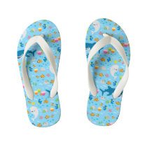 Finding Dory Colorful Pattern Kid's Flip Flops