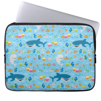 Finding Dory Colorful Pattern Laptop Sleeve