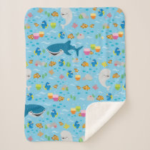 Finding Dory Colorful Pattern Sherpa Blanket