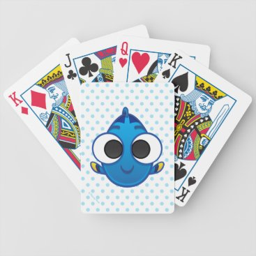 Disney Themed Finding Dory   Dory Emoji Bicycle Playing Cards