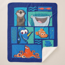 Finding Dory | Group of Characters Sherpa Blanket