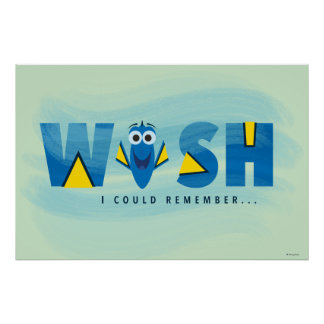 Finding Dory  I Wish I Could Remember Poster