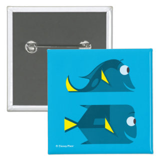 Finding Dory   Jenny and Charlie Pinback Button