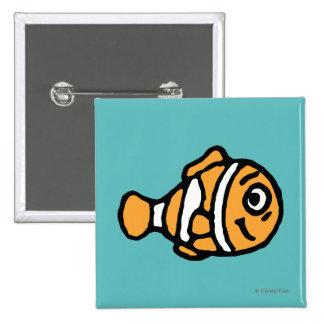 Finding Dory   Marlin Cartoon Button