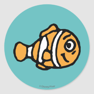 Finding Dory | Marlin Cartoon Classic Round Sticker