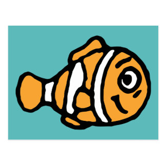 Finding Dory | Marlin Cartoon Postcard