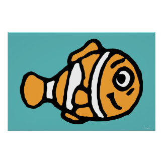 Finding Dory   Marlin Cartoon Poster