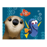 Finding Dory | Nemo, Dory & Otter Postcard at Zazzle