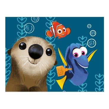 Disney Themed Finding Dory | Nemo, Dory & Otter Postcard
