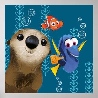 Finding Dory   Nemo, Dory & Otter Poster