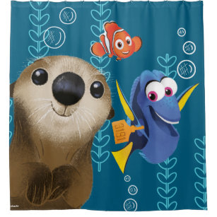 Finding Nemo Dory Shower Curtains