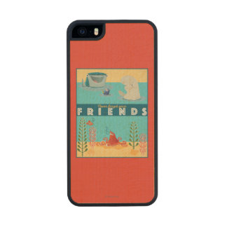 Finding Dory | Never Forget Your Friends Wood Phone Case For iPhone SE/5/5s