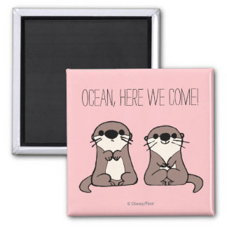 Finding Dory | Otter Cartoon 2 Inch Square Magnet