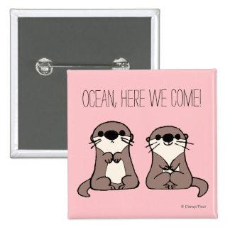 Finding Dory   Otter Cartoon Pinback Button