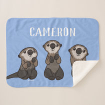 Finding Dory Otters | Add Your Name Sherpa Blanket