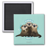 Finding Dory Otters | Cuddle Party 2 Inch Square Magnet