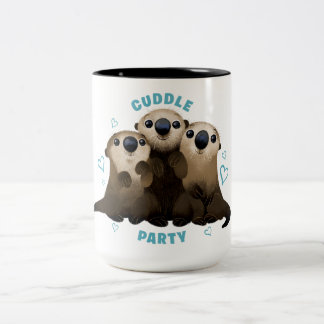 Finding Dory Otters | Cuddle Party 2 Two-Tone Coffee Mug