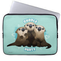 Finding Dory Otters   Cuddle Party Laptop Sleeve