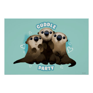Finding Dory Otters | Cuddle Party Poster