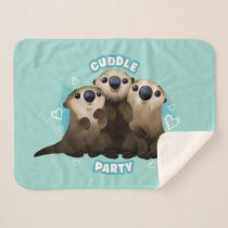 Finding Dory Otters | Cuddle Party Sherpa Blanket