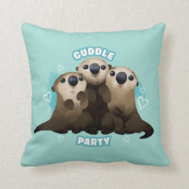 Finding Dory Otters   Cuddle Party Throw Pillow