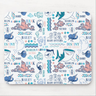 Finding Dory Pastel Pattern Mouse Pad