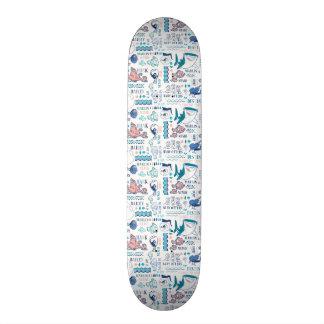 Finding Dory Pastel Pattern Skateboard