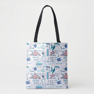 Finding Dory Pastel Pattern Tote Bag