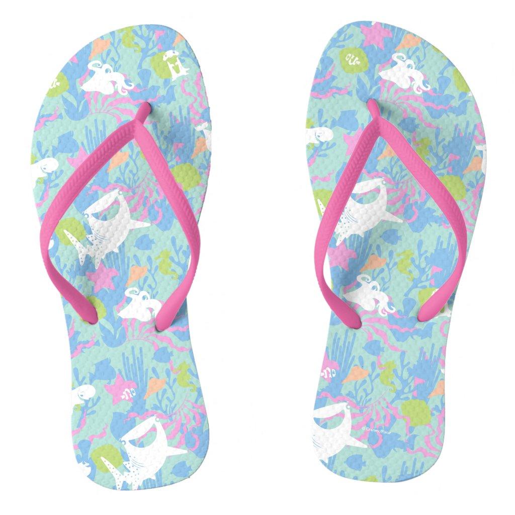 Finding Dory Pastel Sea Pattern Flip Flops