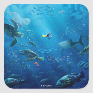 Finding Dory | Poster Art Square Sticker