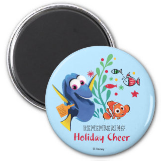 Finding Dory | Remembering Holiday Cheer 2 Inch Round Magnet