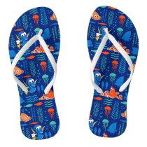 Finding Dory Sea Pattern Flip Flops