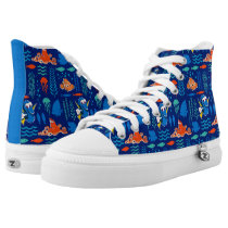 Finding Dory Sea Pattern High-Top Sneakers