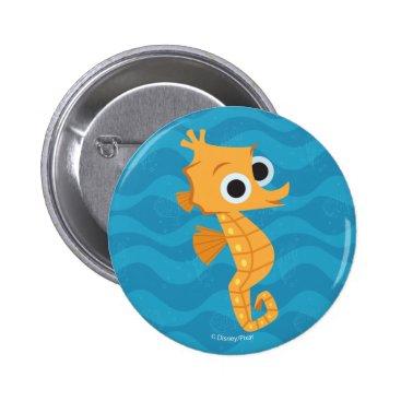 Disney Themed Finding Dory   Sheldon Pinback Button