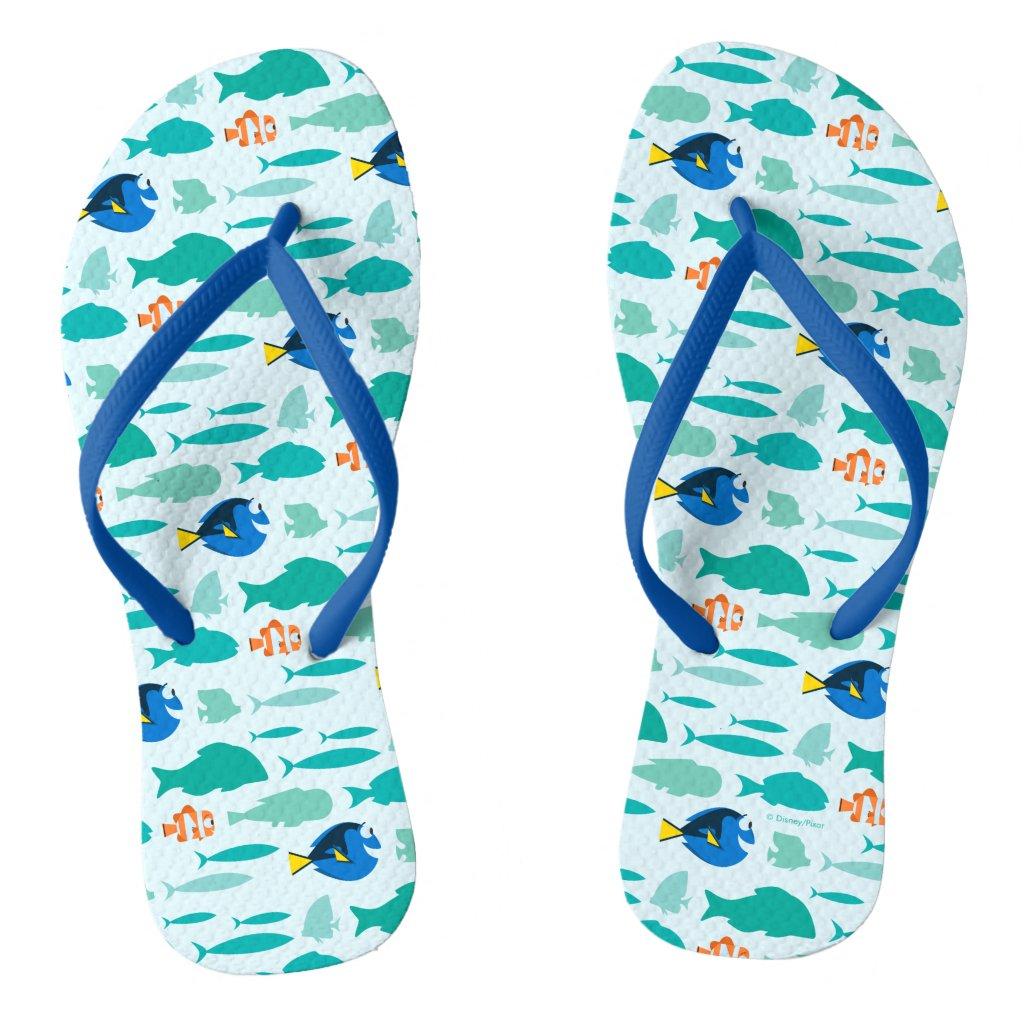 Finding Dory Silhouette Pattern Flip Flops