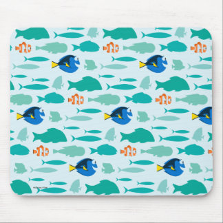 Finding Dory Silhouette Pattern Mouse Pad