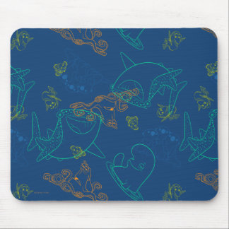 Finding Dory Sketch Navy Pattern Mouse Pad