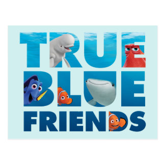 Finding Dory   True Blue Friends Postcard