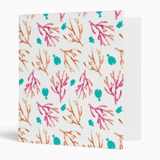 Finding Dory Watercolor Coral Pattern 3 Ring Binder