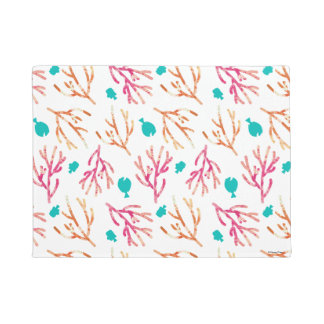 Finding Dory Watercolor Coral Pattern Doormat